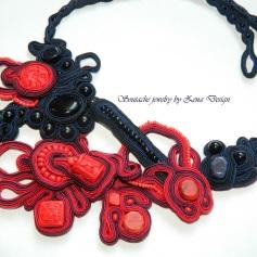 soutache colier rosu si negru (2)