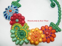 soutache necklace - flowers (7)