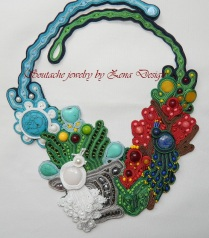 colier soutache - royal peacocks (3)