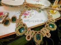 soutache golden and emerald green (71)