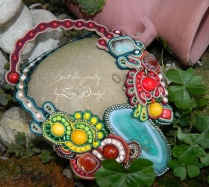 soutache necklace - A slice of nature (1)
