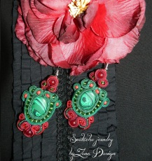 Christmas earings soutache (40)
