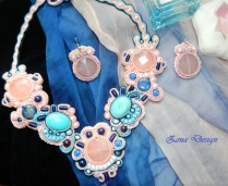 necklace soutache - Pink loves Blue (27)