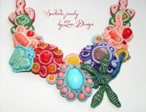 colier soutache dragonfly flowers (5)
