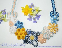 soutache necklace Spring flowers 1 e