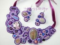 soutache necklace Purple rain (36)