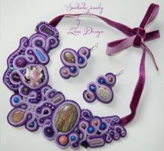 soutache necklace Purple rain (40)