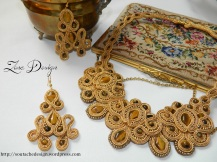 Set soutache golden tiger (5)