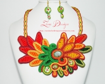 soutache necklace Chrysanthemums (73)