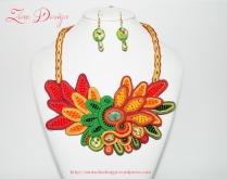 soutache necklace Chrysanthemums (86)