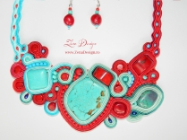 colier turquoise and red necklace (16)
