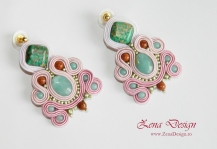 pink and green soutache earrings (10)