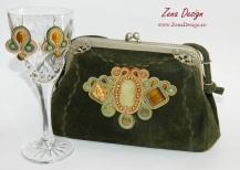 poseta verde, green purse soutache (13)