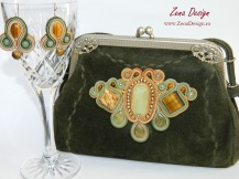 poseta verde, green purse soutache (14)
