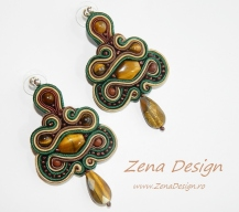brown earrings with tiger eye (5)