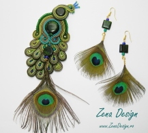 Peacock earrings and broch (39)