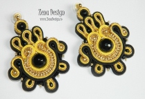 soutache earrings black and golden (9)