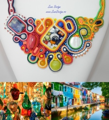 Murano soutache necklace inspiration