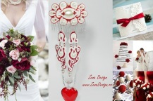 white and red wedding inspiration 2