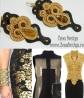 cercei lungi negru cu maro, chandelier earrings inspiration