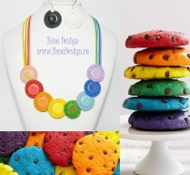 colier curcubeu rainbow cookies necklace (9)