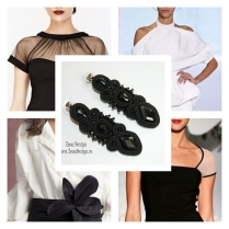 black earrings inspiration