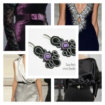 Black and purple earrings inspiration
