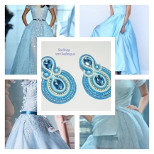 blue crystal earrings inspiration