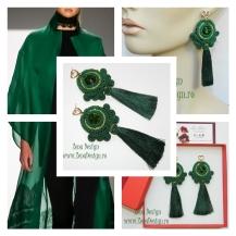 cercei_verde_emeral_ciucuri