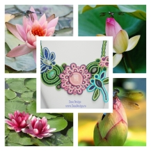 Dragon Fly on Lotus necklace inspiration