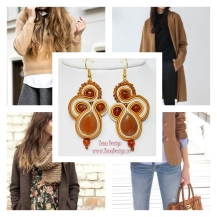 brown earrings inspiration