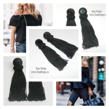 casual_tassel_eariings_black