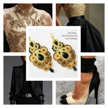 Cream _Black_earrings_inspiration