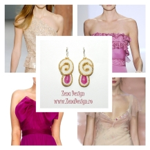 Cream_fucsia_golden_earrings