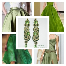 green crystal earrings inspiration