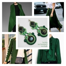 green earrings inspiration