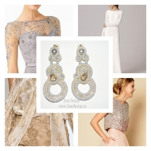 light gray earrings inspiration