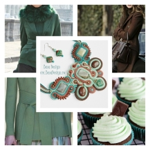 mint and chocolate necklace inspiration