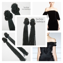 oversized_black_tassel_earrings