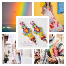 Rainbow earrings inspiration