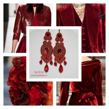 Red earrings inspiration