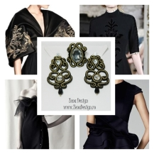 statement black earrings and ring inspiration