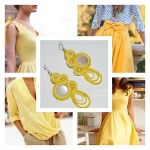 yellow earrings inspiration